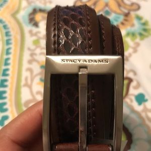 Stacy Adams Brown Leather Belt